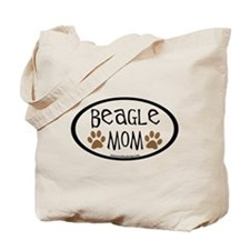 Beagle Mom Oval Tote Bag