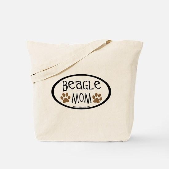 Beagle Mom Oval Tote Bag