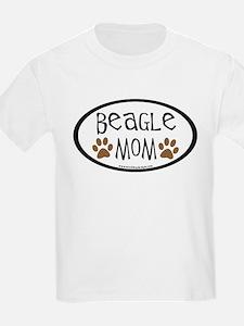 Beagle Mom Oval T-Shirt