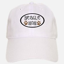 Beagle Mom Oval Baseball Baseball Cap