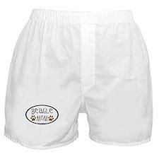Beagle Mom Oval Boxer Shorts
