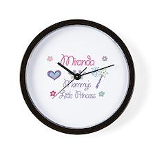 Miranda - Mommy's Little Prin Wall Clock