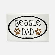 Beagle Dad Oval Rectangle Magnet (10 pack)