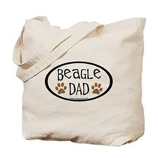 Beagle Dad Oval Tote Bag