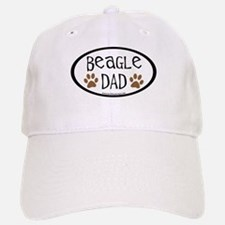 Beagle Dad Oval Baseball Baseball Cap