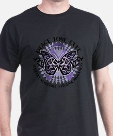 Alzheimers Peace Love Cure Tr T-Shirt