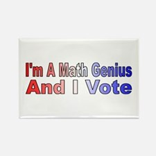 I'm a math genius Rectangle Magnet