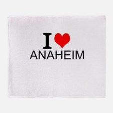 I Love Anaheim Throw Blanket