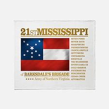21st Mississippi Infantry Throw Blanket