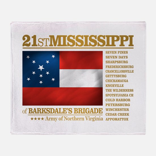 21st Mississippi Infantry Throw Blanket