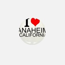I Love Anaheim, California Mini Button