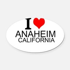 I Love Anaheim, California Oval Car Magnet