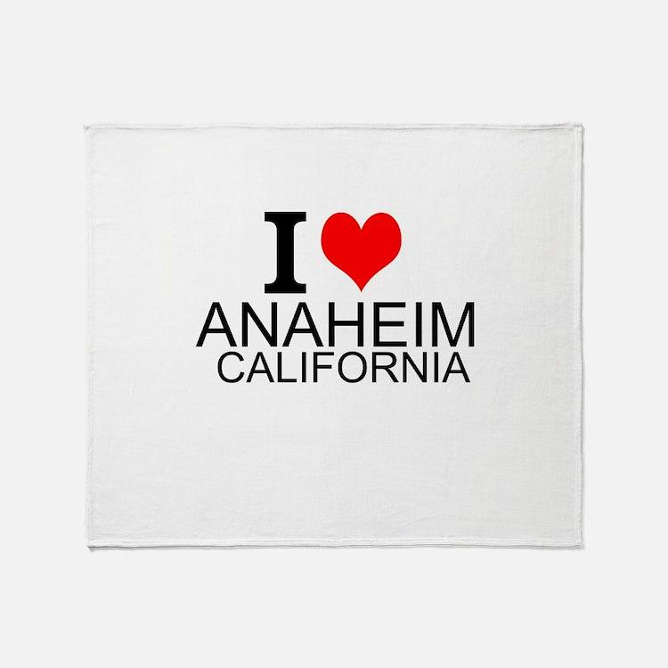 I Love Anaheim, California Throw Blanket