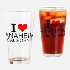I Love Anaheim, California Drinking Glass