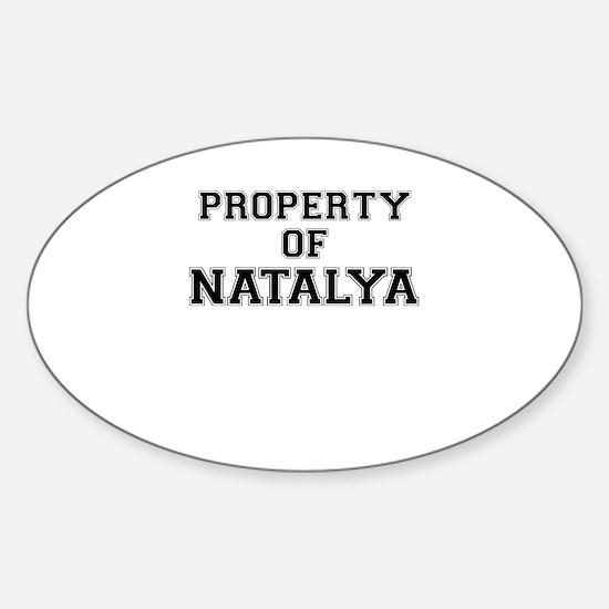 Property of NATALYA Decal