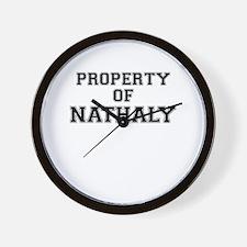 Property of NATHALY Wall Clock