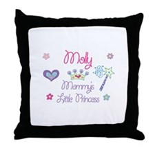 Molly - Mommy's Little Prince Throw Pillow