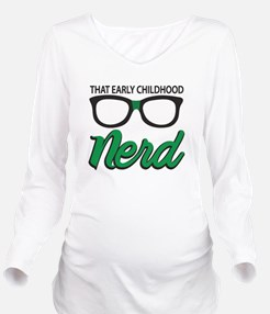 ECE nerd Long Sleeve Maternity T-Shirt
