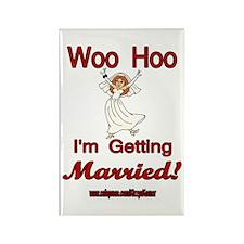 WOO HOO MARRIED Rectangle Magnet