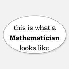 What a Mathematician Looks LIke Decal