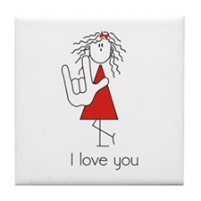 I Love You Girl Tile Coaster