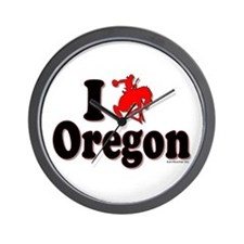 I rodeo OREGON! Wall Clock