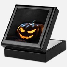Halloween Pumpkin Jack-O-Lantern Spoo Keepsake Box