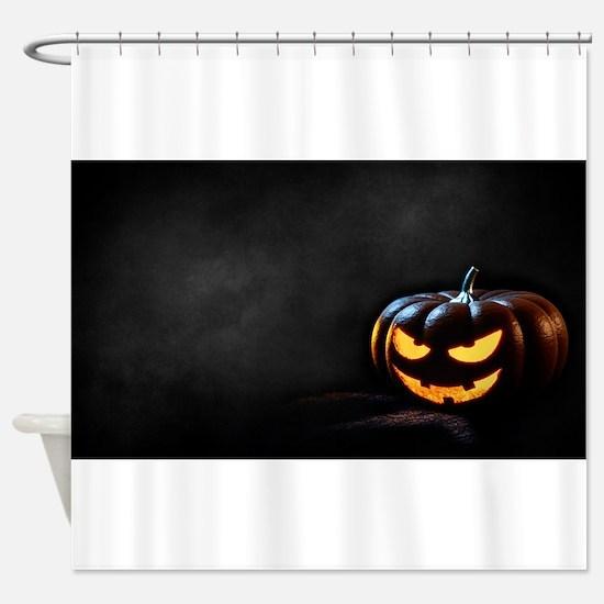 Halloween Pumpkin Jack-O-Lantern Sp Shower Curtain