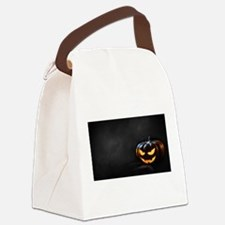 Halloween Pumpkin Jack-O-Lantern Canvas Lunch Bag
