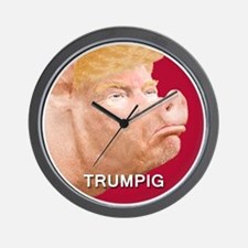Trumpig Wall Clock