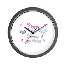 Natalie - Mommy's Little Prin Wall Clock