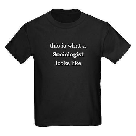 What a Sociologist Looks Like Kids Dark T-Shirt