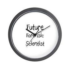 Future Forensic Scientist Wall Clock