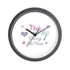 Nicole - Mommy's Little Princ Wall Clock