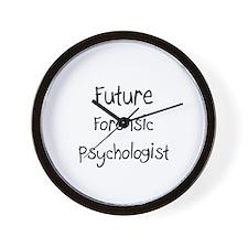 Future Forensic Psychologist Wall Clock