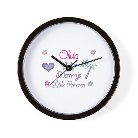 Olivia - Mommy's Little Princ Wall Clock