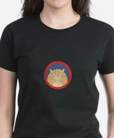 Cute fluffy Hamster with red circle T-Shirt