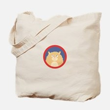 Cute fluffy Hamster with red circle Tote Bag