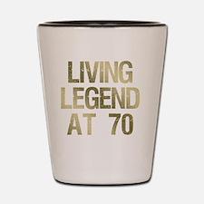 Cool Mens 70 birthday Shot Glass