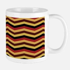 Garnet and Gold Chevron Pattern Mugs