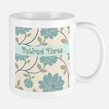 retired nurse blue flower pillow Mugs