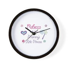 Rebecca - Mommy's Little Prin Wall Clock