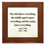 Oscar Wilde 3 Framed Tile