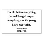 Oscar Wilde 3 Rectangle Sticker