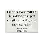 Oscar Wilde 3 Rectangle Magnet (100 pack)