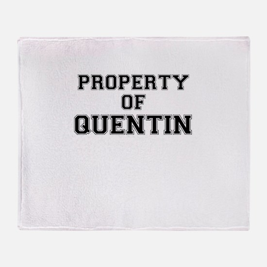 Property of QUENTIN Throw Blanket