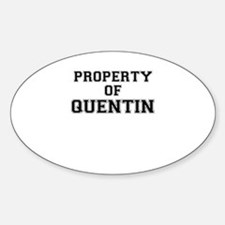 Property of QUENTIN Decal
