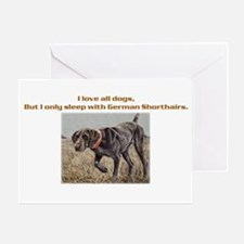 Sleeps with Pointers Greeting Card