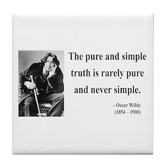 Oscar Wilde 4 Tile Coaster