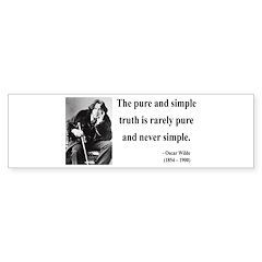 Oscar Wilde 4 Bumper Sticker